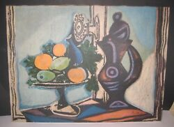 Sold On Ebay 2500 🔥 Vintage Pablo Picasso_large Canvas Print From Oil Painting