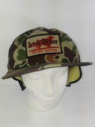 Red Wing Irish Setter Patch Hat Cap Work Boots Hunting Camo Vintage Snapback