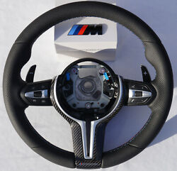 Genuine Bmw M Performance M3 F80 F81 Premium Leather Steering Wheel With Carbon