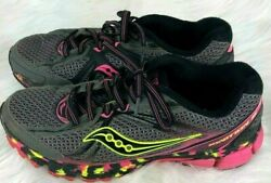 Saucony Ignition 5 Womens Running Athletic Shoes Black Pink Size 8