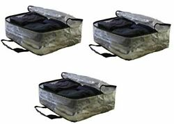 Extra Large Clear Storage Bag Moving Totes for Clothing Storage Set of 3 $23.99