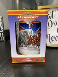 1999 Budweiser A Century Of Tradition Holiday Stein Lidded Cs389se Signature