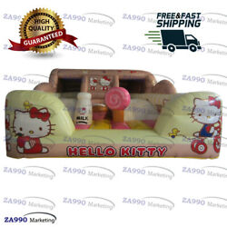 16x13ft Commercial Inflatable Hello Kitty Bounce House Castle With Air Blower