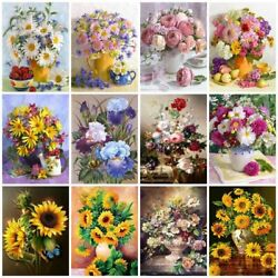 5d Flowers Diamond Embroidery Painting Drill Floral Rhinestones Home Decoration