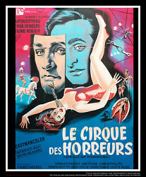 Circus Of Horrors 4x6 Ft French Grande Original Movie Poster 1960