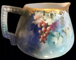 Antique Early Tand V Limoge Handpainted Pitcher