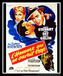 The Man Who Knew Too Much 4x6 Ft French Grande Movie Poster Original 1956