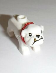 Lego City Minifigure Animal BULLDOG White with Red Collar from set 60246 New