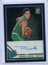 2019-20 Panini Optic Basketball Tremont Waters Purple Fotl Rated Rookie /49 Auto