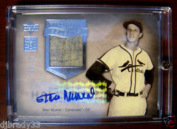 Stan Musial 2005 Upper Deck Hall Of Fame 6/15 Autographed Game Used Card 1/1