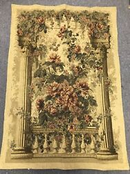 "Vintage Tapestry Wall Hanging Vintage Large 37"" X 53"""