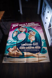 From Here To Eternity 4x6 Ft French Grande Movie Poster 1953 Rerelease 1958