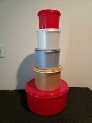 Tupperware 5-piece Canister Set New