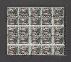 Newfoundland 1929 Sheet Of 25 Mint Three Cents On 6 Cents 160 Varieties