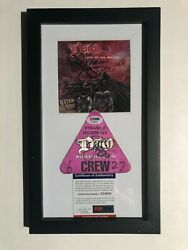 Ronnie James Dio Signed Crew Pass And Cd Book 1993-1994 World Tour Psa Dna Coa