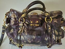 Miu Miu purse City Calf lux Leather Shoulder Bag Cognac Brown black gray emerald
