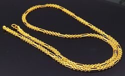 UNIQUE DESIGN UNISEX CHAIN NECKLACE 22 K YELLOW 4 MM GOLD CHAIN BEST GIFTING