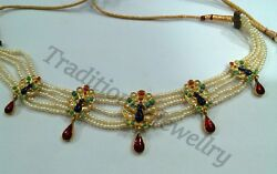 Fabulous 22karat Yellow Gold Awesome Peacock Design Fantastic Pearl Necklace