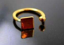 Awesome Rectangle 18k Yellow Gold Authentic Cocktail Ring Band Elegant Labor Day