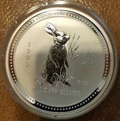 1999 Perth Mint Series One 10 Oz. Silver Round Limited Edition .999 Silver Proof