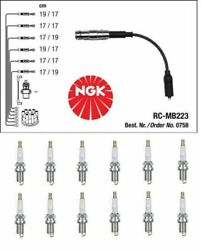 Mercedes W203 W210 W211 W163 W220 M112 Ignition Set Cable + Spark Plugs Ngk