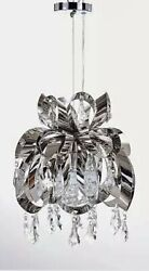 Silver Modern Sml-h502-s3 W16xh21s Chandelier With Crystal Pendants