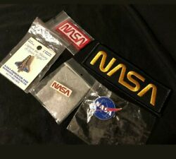 Nasa Lapel Pins And Patches Lot Of 5 Vintage Nice Collectibles