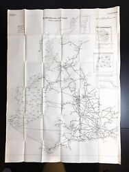 Wwii 1940 German Luftwaffe Britain And Ireland Bombing Run Chart And Course Relic