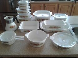 Vintage Corning Ware Pyrex 24 Piece Spice Of Life Casserole Oven Cookin Dishes