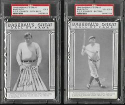 COMPLETE 1948 Exhibit Hall of Fame 33 card set ALL PSA Graded Ruth Gehrig Cobb
