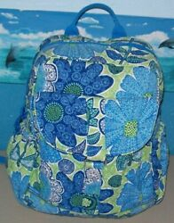 Vera Bradley Backpack Retired Design Doodle Daisy - Great Condition