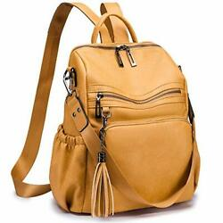Women PU Leather Backpack Purse Convertible Fashion Travel Large Ladies Shoulder $49.83