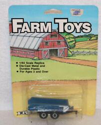 Ertl Farm Toys Blue Implement Manure Spreader 164 Scale Diecast And Plastic 603