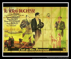 You Will Be Duchess 5x8 Ft Double French Grande Movie Poster Original 1932