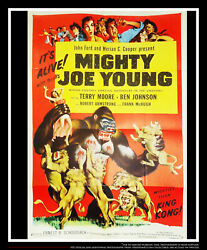 Mighty Joe Young 27x40 Us One Sheet Vintage Movie Poster Rerelease 1953