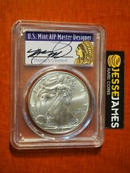 2019 Silver Eagle Pcgs Ms70 Thomas Cleveland First Day Of Issue Fdi Chief Label