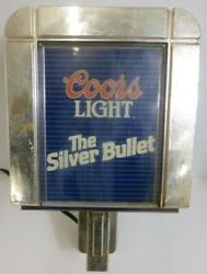 Vintage Coors Light The Silver Bullet Lighted Sign