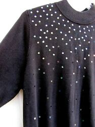 Quacker Factory..black..pullover..long..sweater..sequins..new Tags..sz 1x
