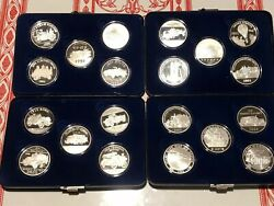 Firemans Silver Medallion Collection 1990 To 2009 20 Proof 2 Oz 999 Silver