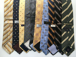 NORDSTROM AND OTHERS 10 MEN SILK TIES. $44.99