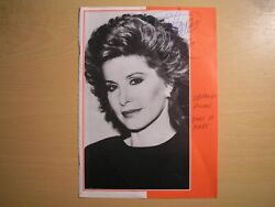 Stephanie Powers - Original Hand-signed Theatre Programme Page 1991