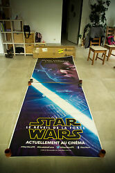 Star Wars 7 Force Awakens B 4x10 Ft Double Bus Shelter Original Movie Poster