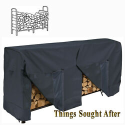 Cover For 8and039 Firewood Log Rack 8 Foot Outdoor Fire Wood Home Patio Storage Black