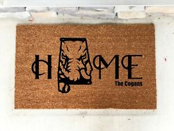 Personalized Alabama Door Mat Custom Football Roll Tide Fathers Day Gift