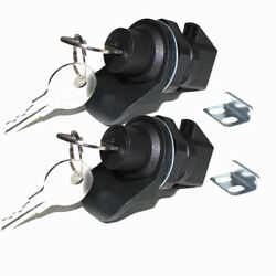 Pair Black Push Button Latch Replacement Southco 93 Boat Rv Cam Glovebox Lock