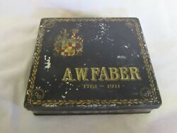 Vintage A W Faber 150th Anniversary Tin Litho Pencil Box Made In Germany 1911