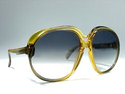 Vintage Optyl Cobra Oversized Two Tone Amber 3031 Light Lenses 70and039s W. Germany