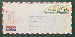 Stamp, Cover From Jerusalem To Ca. Governor Ronald Reagan, Own A Piece History
