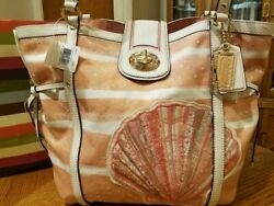 Rare Brand New Coach Madison Audrey Leather Seashell Tote Only 1 New On Ebay