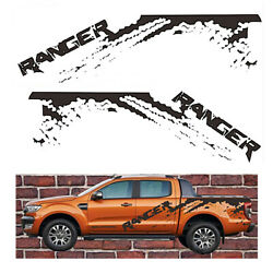 Sticker Paint Mud Pattern Oem For Ford Ranger Black Truck Logo Cover Decal Pvc